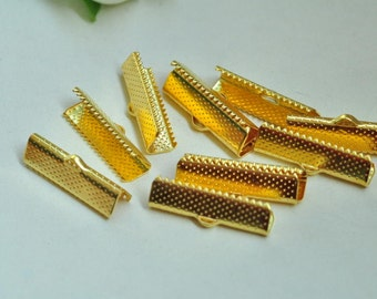 50pcs Gold Plated Fasteners Clasps 25mm XJ038