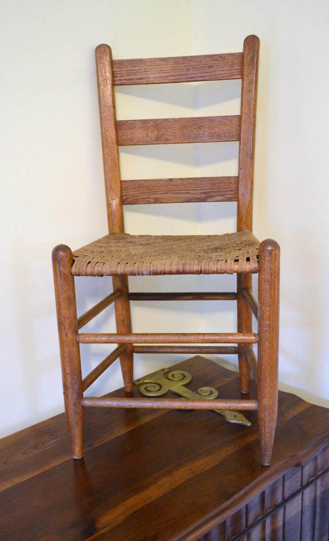 Vintage Oak Ladder Back Chair