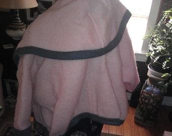 Retro pink n slate grey wool mohair Gucci Jacket Coat