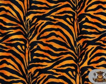 Zebra Orange Velboa Animal Print  Fabric Sold by the Yard