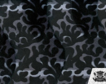 Fire Flame Gray Velboa Fabric Sold by the Yard