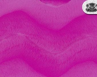 Wave Fuchsia Velboa Fabric Sold by the Yard