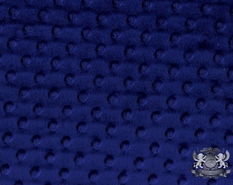 """Minky DIMPLE DOT Navy Fabric / 58"""" Wide / Sold By the yard"""