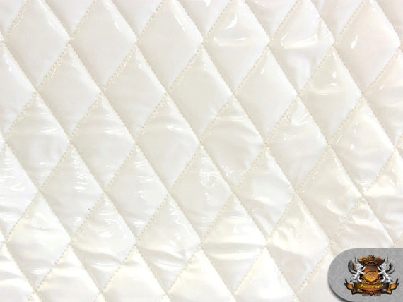 Vinyl Quilted Foam Glossy White Fabric W 3 8 Foam