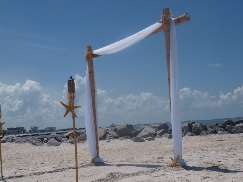 Beach Wedding Arch Ideas: Wedding Arch/Beach Wedding Arch/Bamboo Chuppah/Bamboo