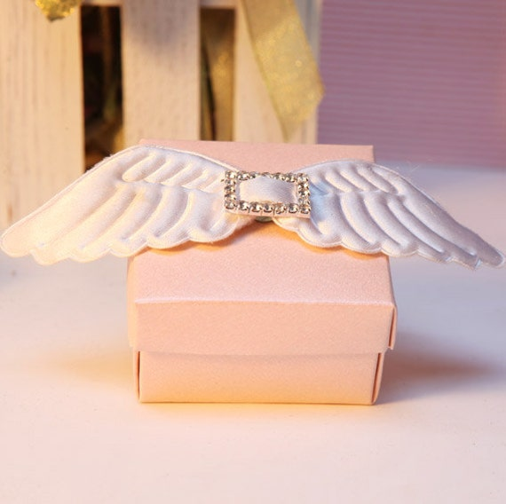 Angels Wings Pink Wedding Favor Candy Box DIY By Sweetywedding