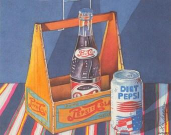 Standing Tall - Pepsi Art Print Pepsi Art Pepsi Print