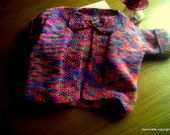 Girls Cardigan. Girls Jacket. Girls Coat.  Hand Knitted . to fit  2-3 yr old. Ready to ship.(matching accessories available.)