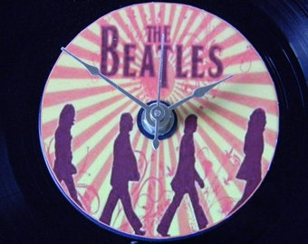 THE BEATLES Inspired Vinyl Record Clock