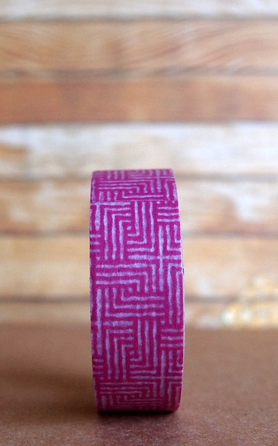 Magenta Cross Hatch Washi Tape