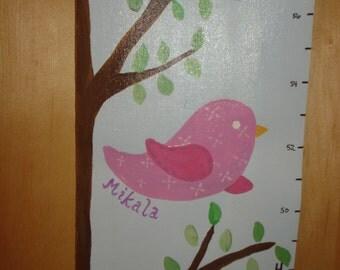 Bird Handpainted Growth Chart