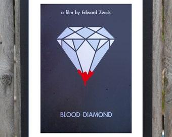 Blood Diamond minimal movie print