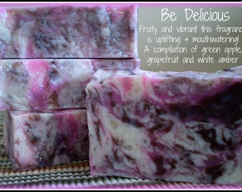 Be Delicious - Rustic Suds Natural - Organic Goat Milk Triple Butter Soap Bar - 5-6oz. Each