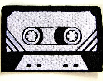 1 Dollar Shipping - Iron On Patch - Mix Tape / Cassette Tape
