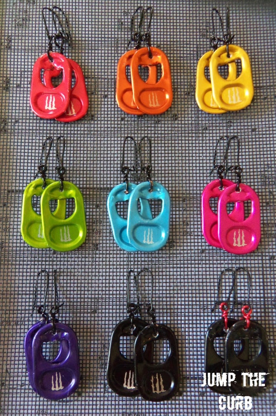 Monster Energy Tab Earrings - 9 colors available