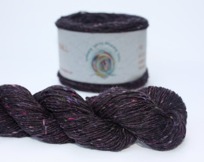 Spinning Yarns Weaving Tales - Tirchonaill 531 Deep Purple 100% Merino for Knitting, Crochet, Warp & Weft