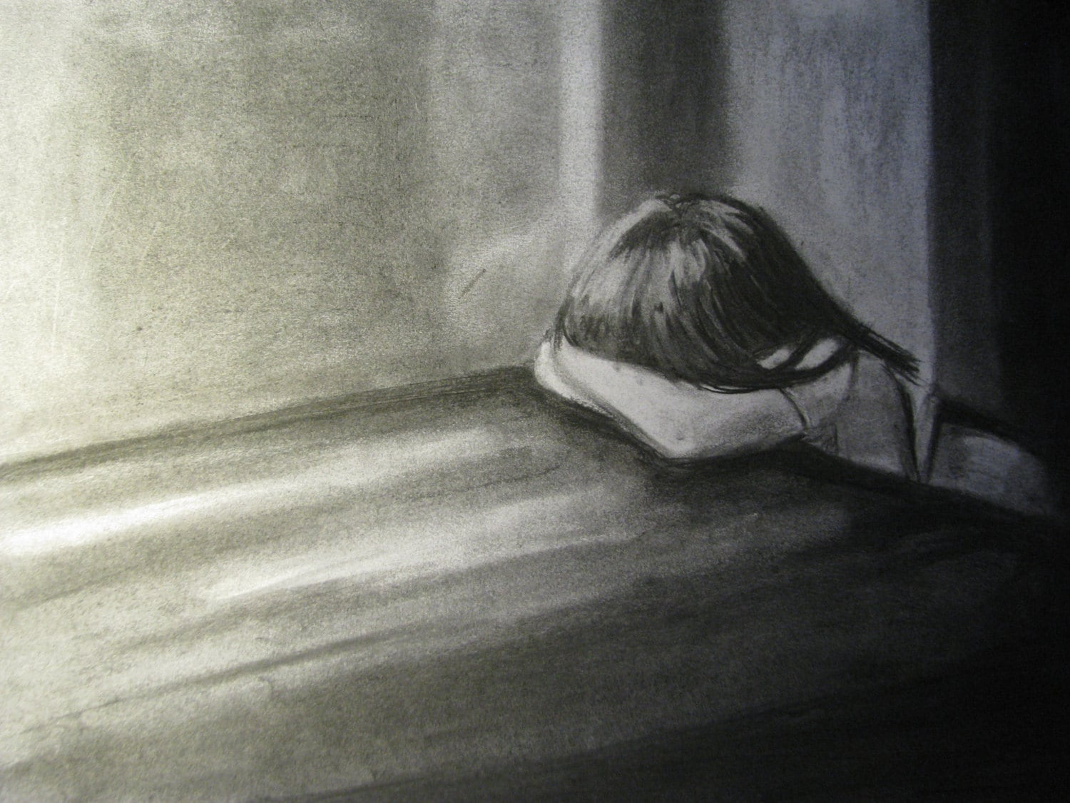 Pic of a girl crying