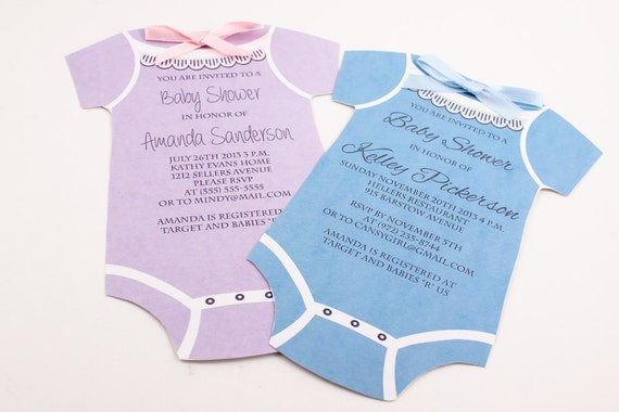 Fan image within printable onesie baby shower invitations