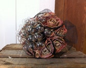 Steampunk industrial wedding bouquet