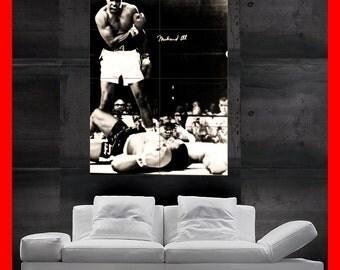 Muhammad Ali vs foreman Poster print wall art  8 parts HH10368 S24