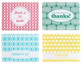 4 Letterpress cards with kraft envelope, mixed pack - EvaenAnne