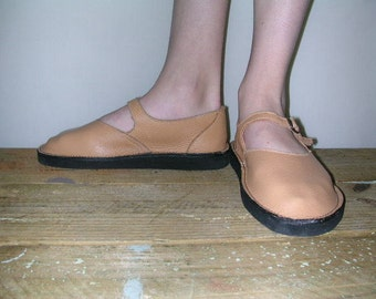 Mary Jane Shoe Tan
