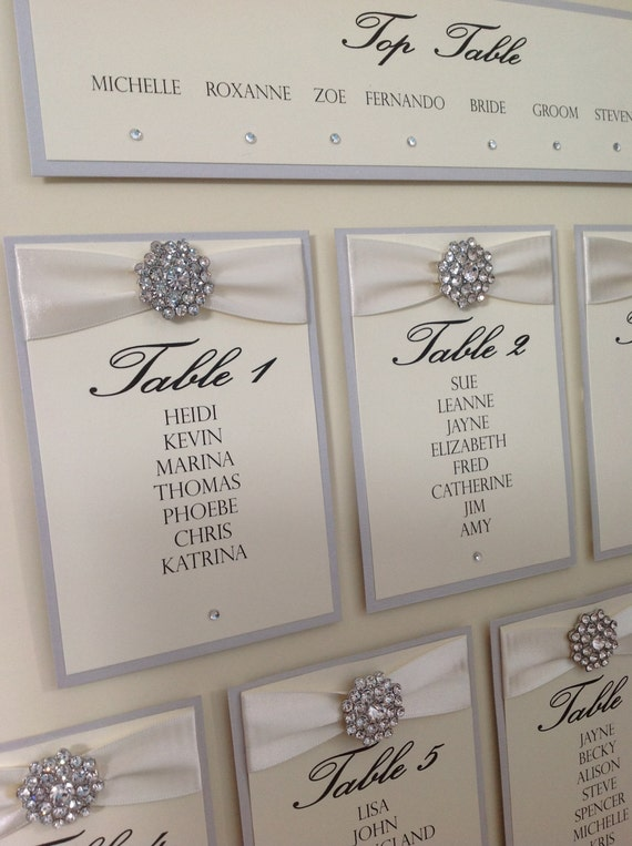 Items Similar To Luxury Wedding Table Seating Plan On Etsy