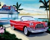"Bahama Breeze, Digital print - 8.5"" X 11"" , Home Decor, Car Art, Signed by Artist Mark Watts"