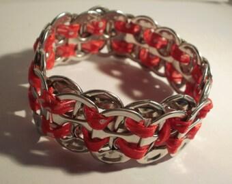 Ring Pull bracelet - Red spot ribbon - Complete tie