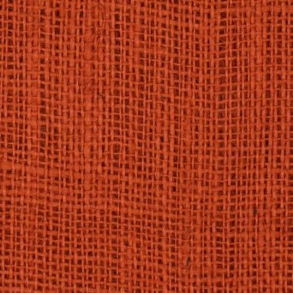 47 48 inch burnt sienna colored burlap roll 35 yards for Colored burlap fabric