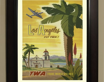 Los Angeles Travel Poster - 3 sizes available, one low price.