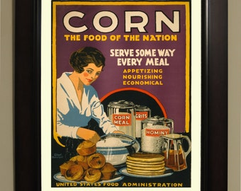 Corn WPA Poster - 3 sizes available, one low price.