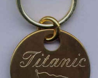 Titanic Solid Brass Locker Tag Keyring