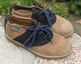 Vintage Children Oxford Shoes - Suede - Size 11.5