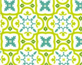 Andalucia Moorish Tile Fabric - Andalucia by Patty Young  for Michael Miller DC3896 WHIT D - 1/2 yard