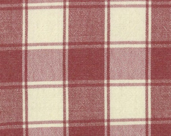 Woven  Twill Fabric - Panier de Fleur  by French General for Moda Fabrics 12556 19T Scarlet - 1/2 yard