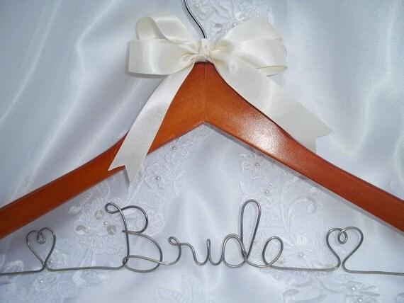 Items similar to wedding dress hanger personalized for Personalized wedding dress hangers