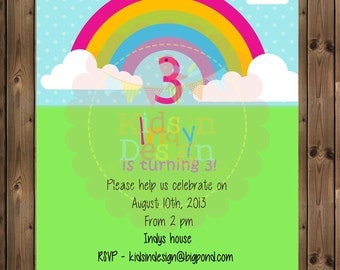Girls Birthday Invitation - Digital Jpg File
