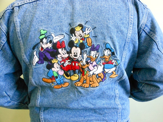 items similar to s vintage disney denim jacket on etsy