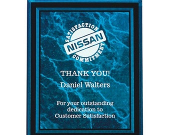 Laser Engraved Acrylic Plaque Red 8x10