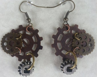 Steampunk Earrings-008   DISCONTINUED DESIGN