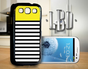Galaxy S3 Case - Yellow on Black Stripes Cover GS3