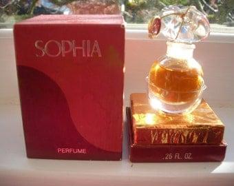 vintage Coty Sophia 0.25 oz. parfum / perfume with presentation box
