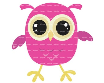 baby owl clip art - baby owl - Cute Owl Digital Clip Art - baby owl clipart - owl graphics - Personal and Commercial Use