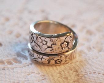 Handmade Silver Plate Spoon Ring