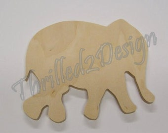 Elephant Shape - Wooden and Unpainted