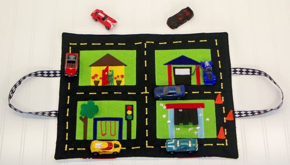 Travel And Car Storage Play Mat Pdf Sewing Pattern For Kids
