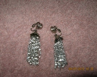 Vintage Dangle Princess Clip Earrings