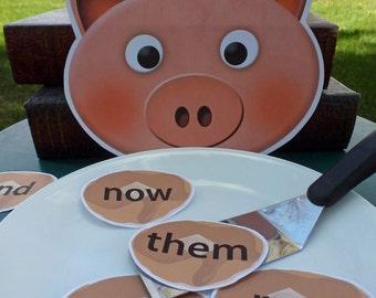 Piggy & Pancakes Sight Word Game for Pre-K through Kindergarten