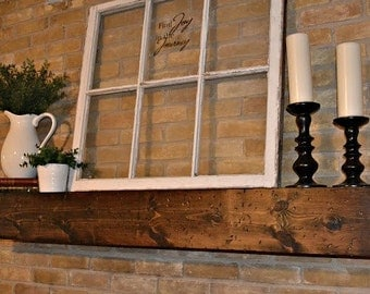 Distressed Wood Mantle or Shelf